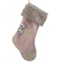 This sweet little pink stocking will be the perfect decorative piece for any Vintage Pink Theme