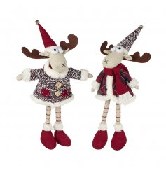 2 quirky standing Moose decorations a perfect pair for any Nordic Themed Scene