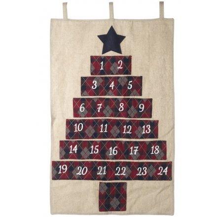 Fabric Hanging Advent Calendar