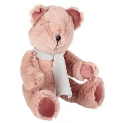 This adorable and super fluffy sitting teddy bear is the perfect compainion for any little one