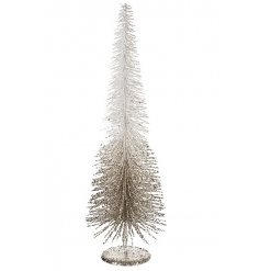 A chic white and gold glitter sparkle tree. A stunning decoration for the home this season.