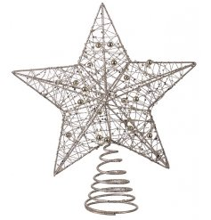 This pretty and sparkling star tree topper is the perfect way to add that special finishing touch to Christmas displays.