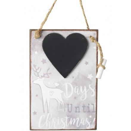 Reindeer Chalkboard Countdown
