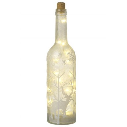 Glitter Reindeer LED Bottle