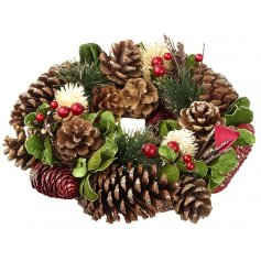 Small Pinecone Wreath/Table Decoration