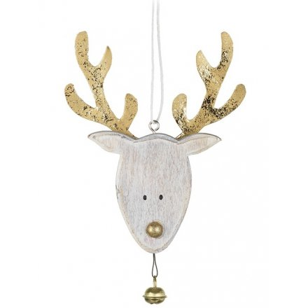 Gold Reindeer Hanging Decoration