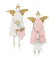 Pink/Gold Angel Hanging Decoration
