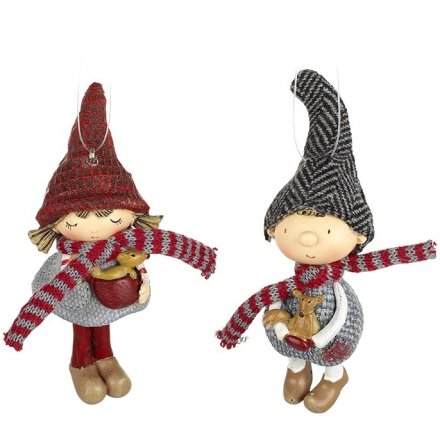 Boy And Girl Hanging Decorations Mix