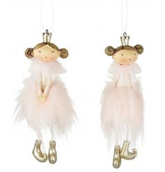 Quirky little resin hanging ballerina tree decorations