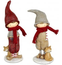 These sweet standing little boys will be a great addition to your christmas displays this festive season