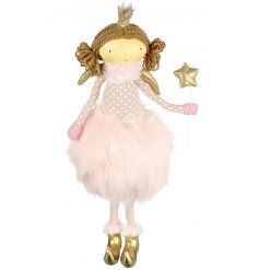 Stand this sweet little ballerina in with your christmas decor to bring a pretty pink colour to it.