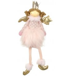 Hang this sweet little ballerina in your christmas tree to bring a pretty pink colour to it.