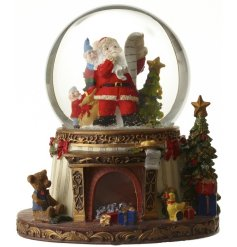Bring to life your christmas display with this beautiful vintage themed Santa Snowglobe.