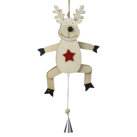 Reindeer With Moving Legs Large 33cm