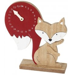 A unique fox shaped advent calendar with a countdown on the tail. A lovely advent for the whole family to enjoy.
