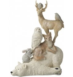 This beautiful resin based tower of animals will look beautiful amongst any christmas decor this year