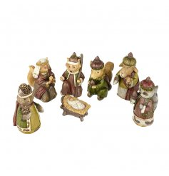 This assortment of 7 nativity animal characters will all group round for that traditional feeling nativity scene