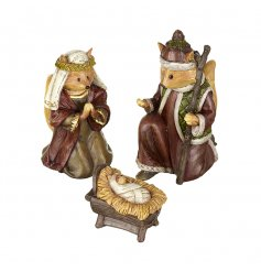 Keep it traditional this year with this resin animal nativity set