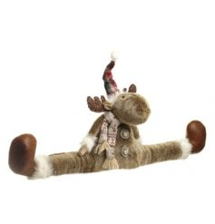 Complete with a little hat and scarf, this furry friend will cozy up any cold room