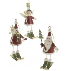 Funky and friendly hanging metal figures