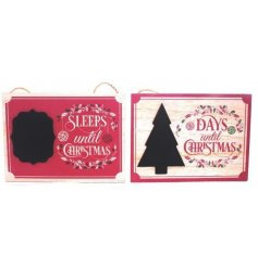 Count down the days till christmas with this vintage inspired assortment of plaques