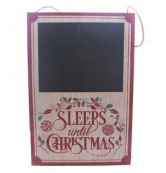 Keep track of the days till christmas with this beautifully vintage themed wall sign