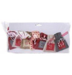 An advent calendar made up of little sacks