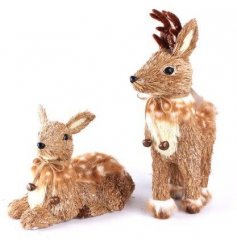 An assortment of 2 deer ornaments