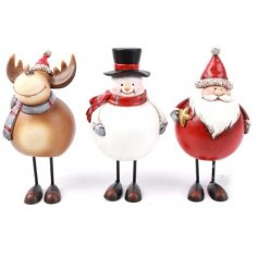 This fun assortment of christmas characters will bring a nordic inspired look to any scene