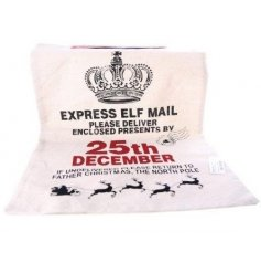 A christmas elf mail sack