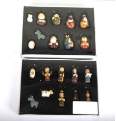 An assortment of 2 nativity sets containing 10 pieces