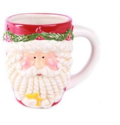 A charming Father Christmas design mug, perfect for a warming hot drink this season. A great gift item!