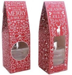Add to your home the sweet smells of christmas with these beautifully patterned reed diffusers