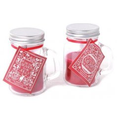 Add to your home the sweet smells of christmas with these beautifully themed mason jar candles