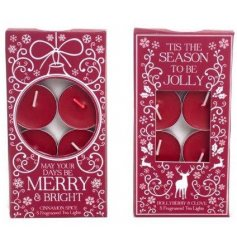 Add to your home the sweet smells of christmas with these beautifully themed tlight candles