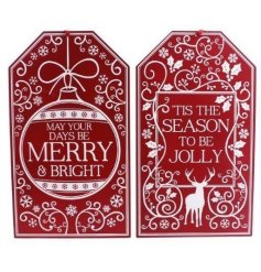 This beautiful nordic inspired assortment of gift tag plaques will be sure to bring that jolly festive feel to your deco