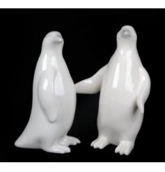 Add a chic look to any christmas theme this year with these ceramic standing penguins