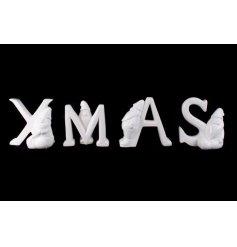 A set of 4 letters with Santas spelling Xmas