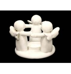 This beautiful circle of standing angels while holding hands makes the perfect decorative candle holder