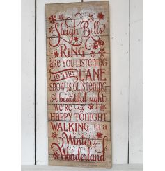 This extra large wooden sign is a great way to spread christmas cheer