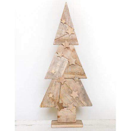 Large Wooden Christmas Tree 80cm 34499 Christmas Ornaments