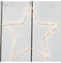 This stylish and simple hanging star will situate perfectly with any decor,
