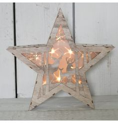 This beautifully detailed wooden star with fitted led lights will bring the perfect cozy feel to any home