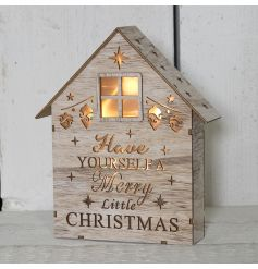 This beautifully detailed wooden house with fitted led lights will bring the perfect cozy feel to any home