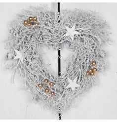 Switch it up this year with this simple designed wreath in white coatings, hang above your door to show off style