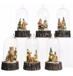 A beautiful mix of 6 glass domed christmas scenes. Brought to life with additional LEDs