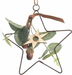 This lovely woodland themed iron star will place perfectly in any themed room.