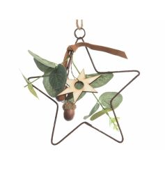 Iron Deco Star w Hanger 15cm  This lovely woodland themed iron star will place perfectly in any themed room.