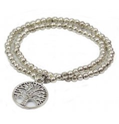A beautiful sentiment gift item in silver with pearl style beads.
