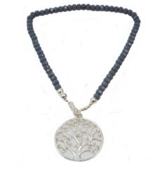 This beautiful tree of life necklace makes a charming gift item and a fashion statement accessory.